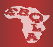 Ebola text in africa outline vector Stock Images