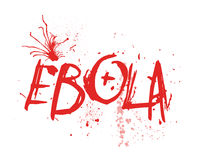 Ebola Typography Illustration Stock Photos