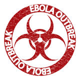 Ebola virus abstract grunge alert Stock Images