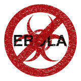 Ebola virus abstract grunge alert Royalty Free Stock Photography