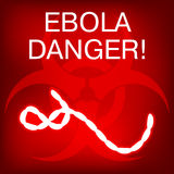 Ebola Virus in Africa. Vector Illustration Royalty Free Stock Images