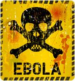 Ebola virus alert. Grungy sign, vector Stock Photography