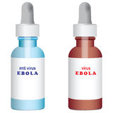 Ebola virus and Antivirus Royalty Free Stock Photos