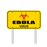 Ebola virus area sign vector Royalty Free Stock Photography
