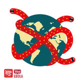 Ebola virus attacks the world. Royalty Free Stock Photo