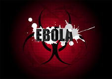 Ebola virus biohazard caution sign symbol Royalty Free Stock Photos