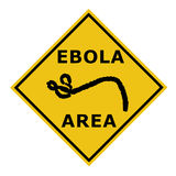 An Ebola virus danger warning area symbol sign Stock Photos