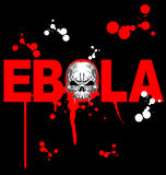 Ebola virus design Royalty Free Stock Image