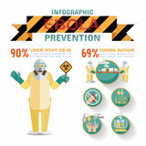 Ebola virus disease Infographics, Prevention. Stock Image