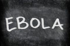 Ebola virus disease text on Blackboard Stock Photography