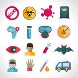 Ebola virus icons Royalty Free Stock Image