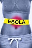 Ebola virus infection Royalty Free Stock Photography
