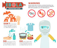 Ebola Virus Info graphics. Flat character design and illustration Stock Photo
