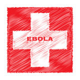Ebola virus red cross medicine Stock Image