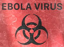 Ebola virus, biohazards, refer to biological substances that pose a threat to the health of living organisms, viruses. Ebola virus, sign indicating the presence stock illustration