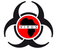 Ebola virus. Sign isolated on white background,vactor illustration Royalty Free Stock Photo