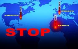 Ebola Virus stop. Royalty Free Stock Photo