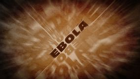Ebola virus text wallpaper. A retro ebola virus background with distorsion Royalty Free Stock Photos