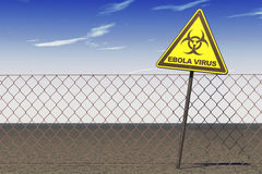 Ebola Virus Warning Sign Stock Photos