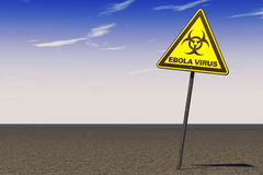 Ebola Virus Warning Sign Stock Photo
