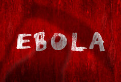 Ebola virus warning Royalty Free Stock Photo