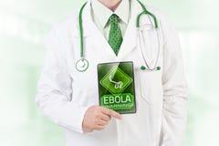 Ebola-Warnung Stockbild
