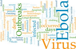 Ebola word cloud Royalty Free Stock Images