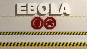 Ebola-Zeichen Stockfotografie