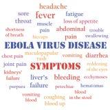 Ebolasymptomen Royalty-vrije Stock Foto