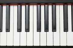 Ebony and ivory. Piano keys, clean, uncluttered top down view.  Couldn't make it simpler Royalty Free Stock Images