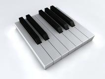 Ebony and Ivory. Close up of piano keys Stock Photos