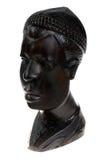 Ebony wooden men head stock photo