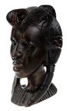 Ebony wooden women head Royalty Free Stock Image
