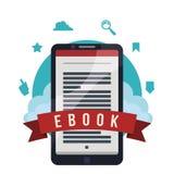 EBook设计 免版税库存照片