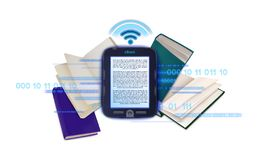 Ebook ï ¿ ½ oncept używać elektronicznej biblioteki ilustracja wektor