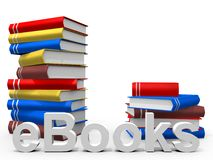 EBook. Real Books with the word ebook Stock Image