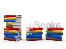 EBook. Real Books with the word ebook Royalty Free Stock Photography