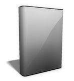 EBook blank. Blank e-book image with dust cover Royalty Free Stock Photos