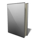 EBook blank. Blank e-book image with dust cover Royalty Free Stock Images
