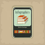 Ebook concept. Retro Infographic Design with mobile phone devices. Elements for presentation and visualization - illustration stock illustration