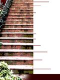 Ebook cover with dark red flight of steps. Ebook cover with dark red flight of steps, format 31,7 x 42,3 cm, large format for more flexibility of use Royalty Free Stock Photos