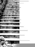 Ebook cover with flight of steps in graytones. Ebook cover with flight of steps, format 31,7 x 42,3 cm, large format for more flexibility of use, in graytones Stock Image
