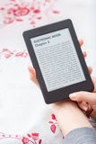 Ebook czytelnik z kopii przestrzenią fotografia royalty free