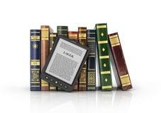 EBook czytelnik z stertą książka royalty ilustracja