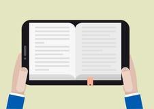 Ebook de la tableta Imagen de archivo libre de regalías