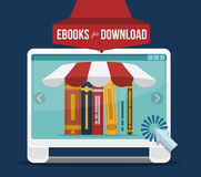 EBook-Design Stockbilder