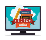 EBook-Design Lizenzfreie Stockbilder