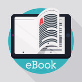 EBook-Design Stockfoto