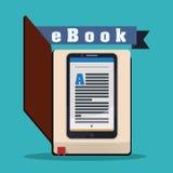 EBook design Fotografering för Bildbyråer