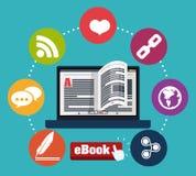 EBook-Design Stockbilder